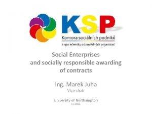 Social Enterprises and socially responsible awarding of contracts