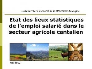 Unit territoriale Cantal de la DIRECCTE Auvergne Etat