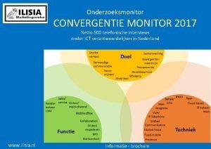 Onderzoeksmonitor CONVERGENTIE MONITOR 2017 Netto 500 telefonische interviews