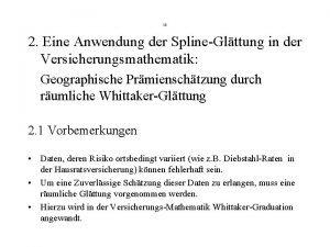 13 2 Eine Anwendung der SplineGlttung in der