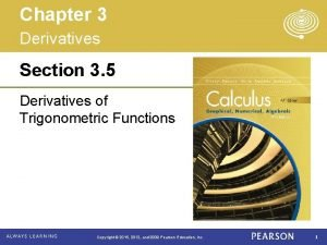 Chapter 3 Derivatives Section 3 5 Derivatives of
