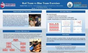 Red Team vs Blue Team Exercises Student Team