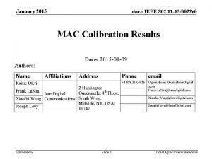 January 2015 doc IEEE 802 11 150022 r