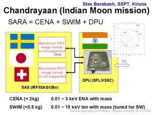 Stas Barabash SSPT Kiruna Chandrayaan Indian Moon mission