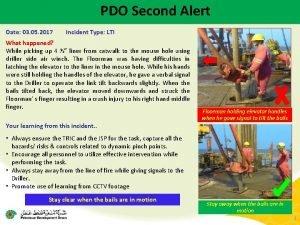 PDO Second Alert Date 03 05 2017 Incident