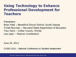 Using Technology to Enhance Professional Development for Teachers