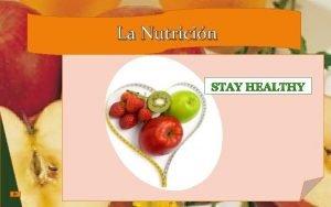 La Nutricin Agenda Conceptos Importancia Tipos de Nutricin