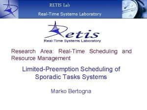 RETIS Lab RealTime Systems Laboratory Research Area RealTime
