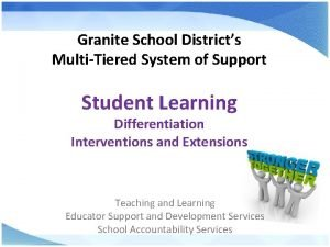 Granite School Districts MultiTiered System of Support Student