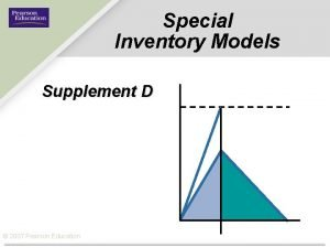 Special Inventory Models Supplement D 2007 Pearson Education