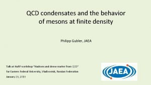 QCD condensates and the behavior of mesons at