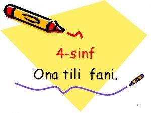 4 sinf Ona tili fani 1 Mavzu Sonsoz