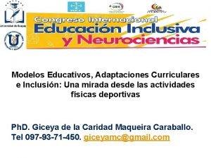 Modelos Educativos Adaptaciones Curriculares e Inclusin Una mirada