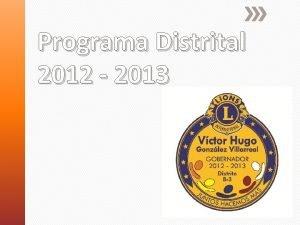 Programa Distrital 2012 2013 Actividades Asistenciales Cartel de