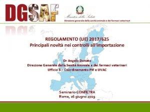 REGOLAMENTO UE 2017625 Principali novit nei controlli allimportazione