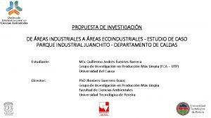 PROPUESTA DE INVESTIGACIN DE REAS INDUSTRIALES A REAS