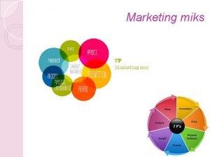 Marketing miks Proizvod Proizvod je sve to moe