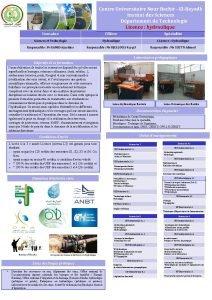 Centre Universitaire Nour Bachir ElBayadh Institut des Sciences