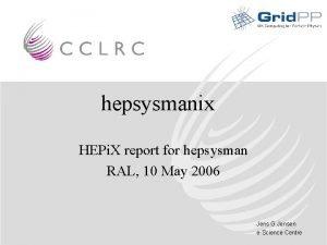 hepsysmanix HEPi X report for hepsysman RAL 10