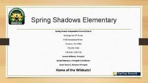Spring Shadows Elementary Demographics Summary Spring Shadows Elementary