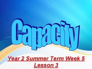 Year 2 Summer Term Week 5 Lesson 3