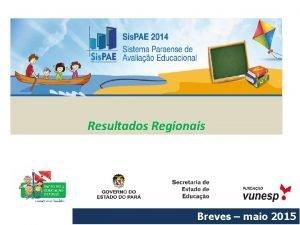 Resultados Regionais Breves maio 2015 DEPNDENCIA ADMINISTRATIVA Estadual