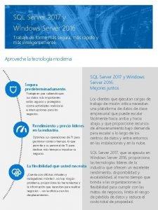 SQL Server 2017 y Windows Server 2016 Trabaje