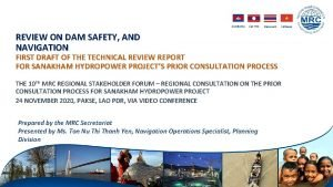 CAMBODIA LAO PDR THAILAND VIETNAM REVIEW ON DAM