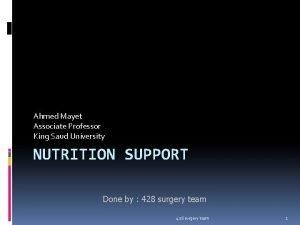 Ahmed Mayet Associate Professor King Saud University NUTRITION