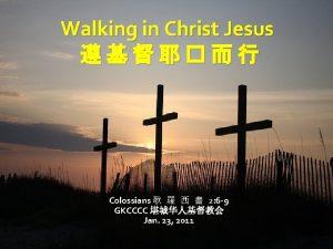 Walking in Christ Jesus Colossians 2 6 9