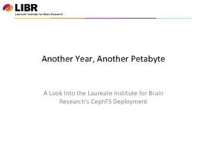 Another Year Another Petabyte A Look Into the