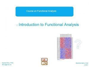 Course on Functional Analysis Introduction to Functional Analysis