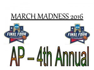 MARCH MADNESS 2016 MIKE RYAN PICKS THE CHAMP