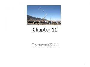 Chapter 11 Teamwork Skills 1 11 1 Teamwork