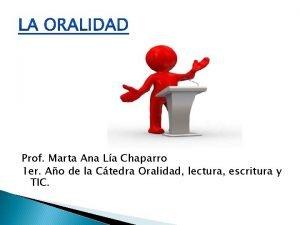 Prof Marta Ana La Chaparro 1 er Ao