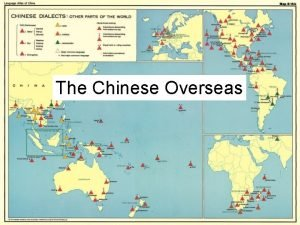 The Chinese Overseas Singapore Confucianism in Singapore Malaysia