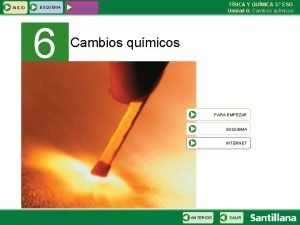 INICIO ESQUEMA 6 FSICA Y QUMICA 3 ESO