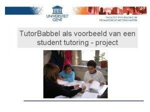 Tutor Babbel als voorbeeld van een student tutoring