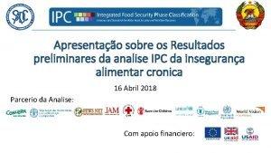 Apresentao sobre os Resultados preliminares da analise IPC
