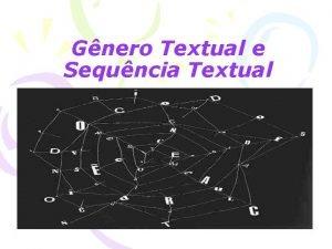 Gnero Textual e Sequncia Textual Os gneros textuais