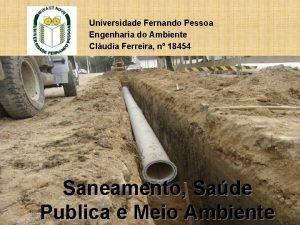Universidade Fernando Pessoa Engenharia do Ambiente Cludia Ferreira
