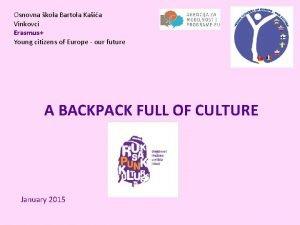 Osnovna kola Bartola Kaia Vinkovci Erasmus Young citizens