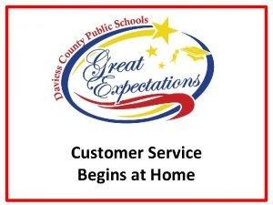 Customer Service Begins at Home Guiding Principles Guiding