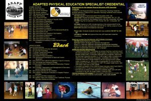 ADAPTED PHYSICAL EDUCATION SPECIALIST CREDENTIAL LOWER DIVISION Take