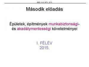 BME KJK MTK 2015 Msodik elads pletek ptmnyek