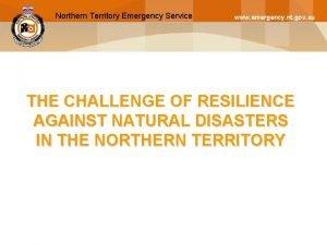 Northern Territory Emergency Service Northern Territory Police www