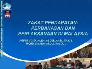 Institut Kajian Zakat Malaysia Universiti Teknologi Mara ZAKAT