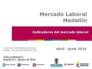 Mercado Laboral Medelln Indicadores del mercado laboral Contrato
