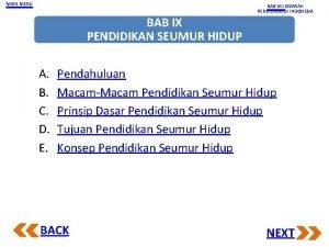 MAIN MENU BAB VIII SEJARAH PENDIDIKANDI INDONESIA BAB