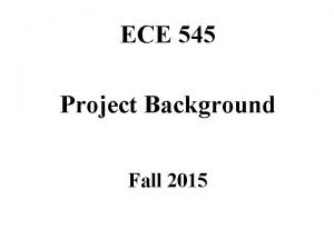 ECE 545 Project Background Fall 2015 Crypto 101